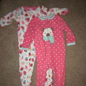 Carter's 2T Footie pajamas—selling as a pair!